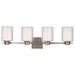Design House 556167 Oslo 4 Light Indoor Wall Mount in Satin Nickel