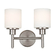 Design House 556191 Aubrey 2 Light Indoor Wall Mount in Satin Nickel