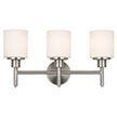 Design House 556209 Aubrey 3 Light Indoor Wall Mount in Satin Nickel