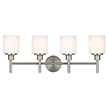 Design House 556217 Aubrey 4 Light Indoor Wall Mount in Satin Nickel