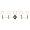 Design House 556225 Aubrey 5 Light Indoor Wall Mount in Satin Nickel