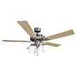 Design House 556621 Aubrey 52 in. 3 Light Ceiling Fan in Satin Nickel