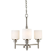 Design House Aubrey 3 Light Chandelier in Satin Nickel - 556647