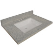 Design House Wave Bowl Cultured Marble Vanity Top, 31-In by 22-In, Grey - 557553
