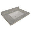 Design House Wave Bowl Cultured Marble Vanity Top, 37-In by 22-In, Grey - 557561