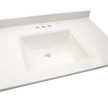 Design House Camilla Center Vanity Top, 61-In by 22-In, Solid White - 557660
