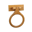 Design House Dalton Towel Ring, Honey Oak Finish - 561191