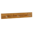 Design House 561225 Dalton Triple Robe Hook, Honey Oak Finish