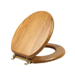 Design House Dalton Round Toilet Seat, Honey Oak Finish - 561241