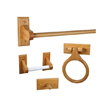 Design House 561258 Dalton 4-Piece Bathroom Kit, Honey Oak Finish
