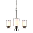 Design House 567206 Oslo 3 Light Chandelier Brushed Nickel