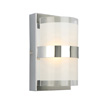 Design House Haswell Single-Light LED Wall Light, Polished Chrome - 577767
