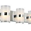 Design House Haswell 3-Light LED Wall Light, Polished Chrome - 577783