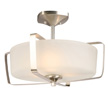 Design House Perth 3-Light Semi-Flush Mount Light, Satin Nickel Finish - 578351