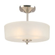 Design House Perth 3-Light Semi-Flush Mount Light, Satin Nickel Finish - 578369