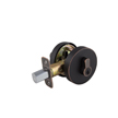 Design House Emblem Round Single Cylinder Deadbolt 2-Way Adjustable Lockset, Brushed Bronze - 581850