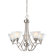 Design House Barcelona 5-Light Chandelier, Satin Nickel - 604660