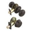 Design House Cambridge 2-Way Latch Deadbolt and Entry Door Knob - 701813