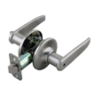 Design House Delevan 2-Way Latch Privacy Door Handle, Adjustable - 702084