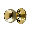 Design House 727008 Bay Dummy Door Knob, Polished Brass