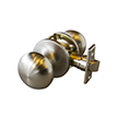 Design House 727321 Canton 6-Way Latch Passage Door Knob, Satin Nickel
