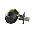 Design House 727420 Single Cylinder Deadbolt, Oil Rubbed Bronze