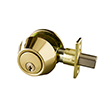 Design House 727438 Single Cylinder Deadbolt, Polished Brass