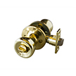Design House 728311 Terrace 6-Way Latch Privacy Door Knob, Polished Brass