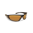 Flying Fisherman 7302BA-250 Falcon Polarized Sunglassed, Black Frames With Amber Reader +2.50 Lenses