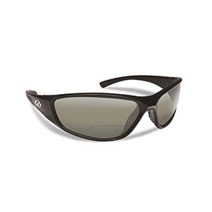 Flying Fisherman 7302BS-150 Falcon Polarized Sunglasses, Black / Smoke Reader