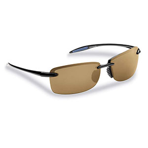 Flying Fisherman 7305BA Cali Polarized Sunglasses, Black Frames / Amber Lenses