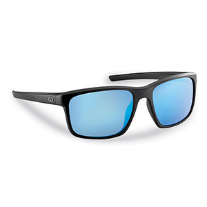 Flying Fisherman 7320BSB Rip Current Sunglasses, Black Smoke Frames With Blue Mirror Lenses