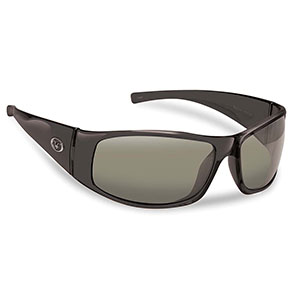 Flying Fisherman 7352BS Magnum Polarized Sunglasses, Black Frames / Smoke Lenses