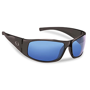 Flying Fisherman 7352BSB Magnum Polarized Sunglasses, Black Frames With Smoke-Blue Mirror Lenses