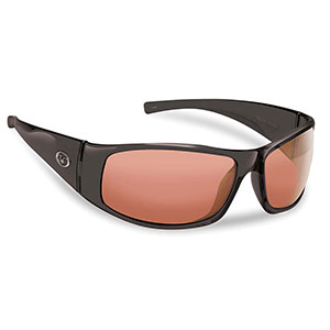 Flying Fisherman 7352BV Magnum Polarized Sunglasses, Black / Vermillion