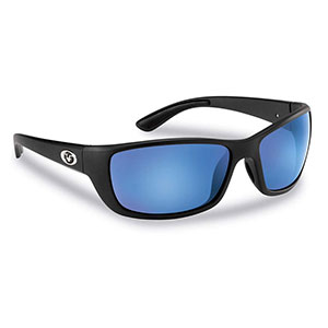 Flying Fisherman 7372BSB Cay Sal Polarized Sunglasses, Matte Black / Smoke-Blue