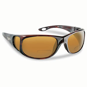 Flying Fisherman 7380TA-250 Nassau Polarized Sunglasses, Tortoise Frames With Amber Reader +2.50 Lenses