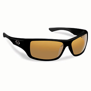 Flying Fisherman 7391BA Triton Polarized Sunglasses, Matte Black Frames, Amber Lenses