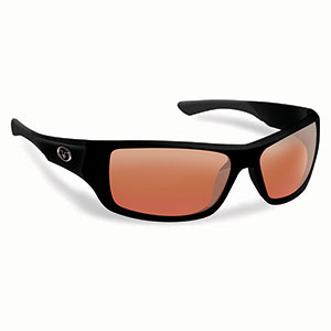 Flying Fisherman 7391BV Triton Polarized Sunglasses, Matte Black Frames, Vermillion Lenses