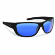 Flying Fisherman 7394BSB Bahia Polarized Sunglassed, Matte Black Frames, Smoke- Blue Mirror Lenses