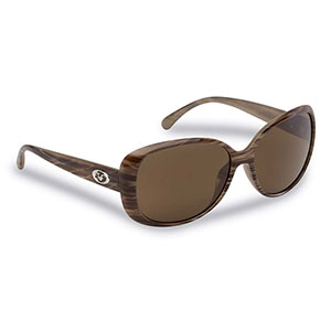 Flying Fisherman 7396SA Sanibel Polarized Sunglasses, Sand Frames / Amber Lenses