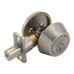 Design House Single Cylinder 2-Way Latch Deadbolt, Adjustable Backset - 740423