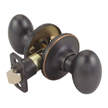 Design House Egg 2-Way Latch Passage Door Knob, Adjustable Backset - 740472