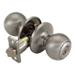 Design House 740506 Ball 2-Way Latch Entry Door Knob, Adjustable Backset