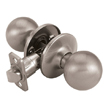 Design House Ball Universal Latch Passage Door Knob, Adjustable Backset - 740829