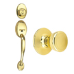Design House Coventry 2-Way Latch Entry Handle Set with Tulip Knob - 740910