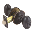 Design House Egg 2-Way Latch Entry Door Knob, Adjustable Backset - 750596
