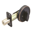 Design House 750869 Single Sided Deadbolt, Adjustable Backset