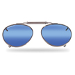 Flying Fisherman 7510SM Sunglasses Clip-On/Sm Teardrop Shape With Smoke-Blue Mirror Lenses