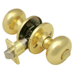 Design House 754689 Pro Cambridge Bed and Bath Door Knob, Polished Brass